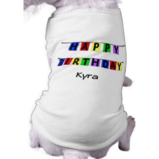 Personalized Happy Birthday Banner Shirt