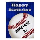 PERSONALIZED Happy Birthday Baseball Cards