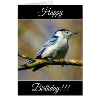 Personalized Happy Birthday Nuthatch Card