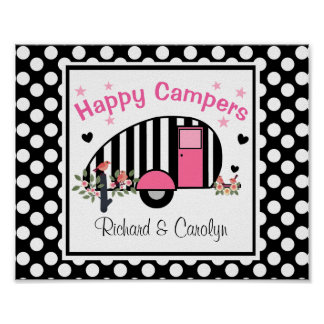 Personalized Happy Campers Poster