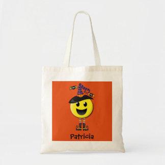 Personalized Happy Emoji Halloween Tote Bag