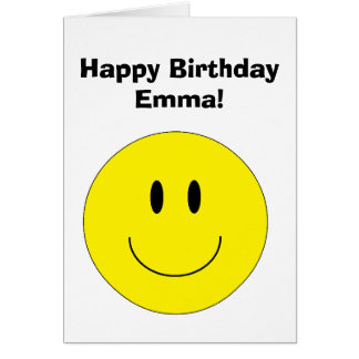"""Personalized """"Happy Face"""" Greeting Card"""
