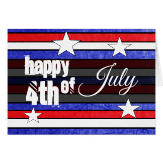 Personalized Happy Fourth of July Patriotic Card