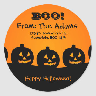 Personalized/Happy Halloween/Pumpkins Adress Label