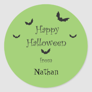 Personalized Happy Halloween Stickers