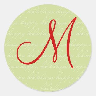 Personalized Happy Holidays Sticker - Customized