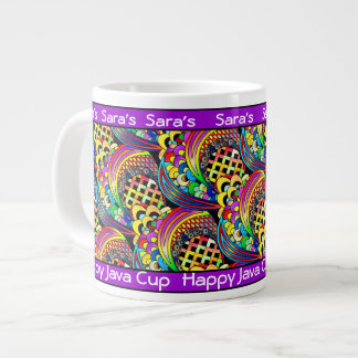 Personalized Happy Java Jumbo Cup