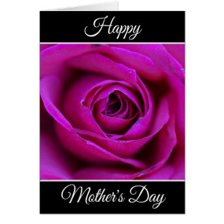 Personalized Happy Mother's Day Rose Greeting Card