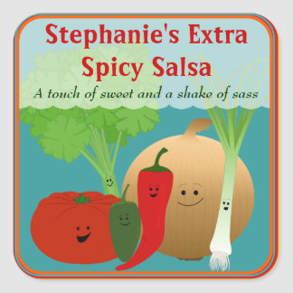 Personalized Happy Salsa Sticker