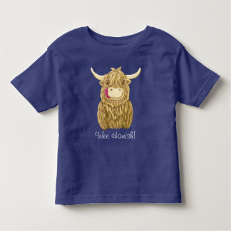 Personalized Happy Scottish Highland Cow Toddler T-shirt