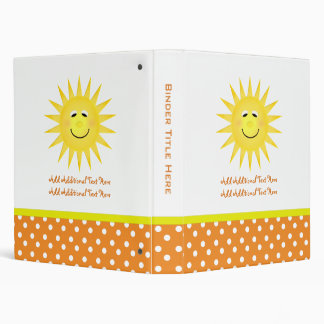 Personalized Happy Sun & Polka Dot Binder