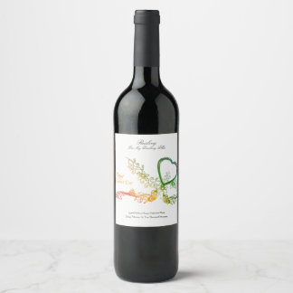 Personalized Happy Valentine's Day Edition Wine Label