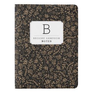 Personalized | Harvest Flowers Extra Large Moleskine Notebook