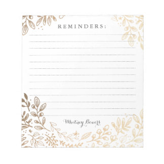 Personalized | Harvest Flowers Notepad