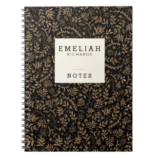Personalized | Harvest Flowers Spiral Notebook