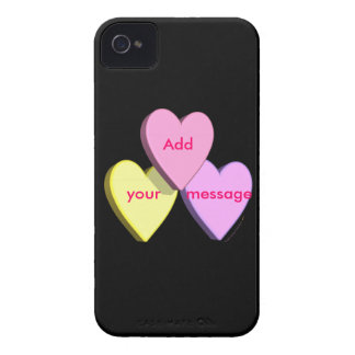 Personalized Heart Candy Custom Message Skin iPhone 4 Case