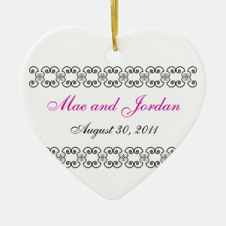 Personalized Heart Keepsake.1 Ceramic Ornament