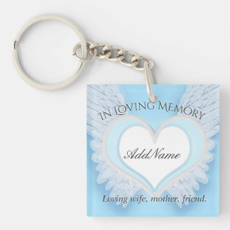 Personalized Heart Memorial Keychain
