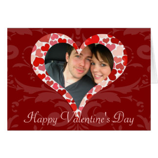 Personalized Heart of Hearts Red Valentine Photo Card
