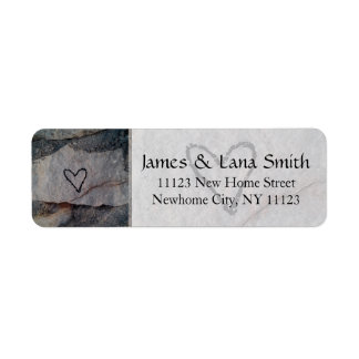 Personalized Heart on Grey Stone Wall