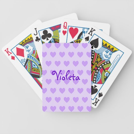 Personalized Heart Pattern Playing Cards