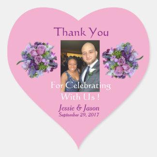 Personalized Heart Wedding Sticker