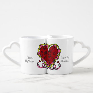 Personalized Hearts and Love Lovers Mugs