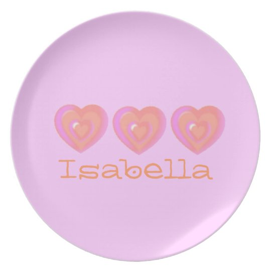 Personalized Hearts Baby Girl Gift Plates