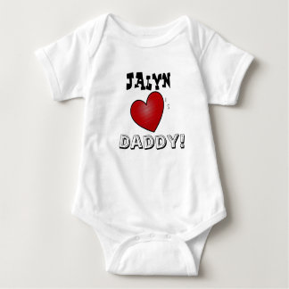 Personalized ' Hearts Daddy Baby Baby Bodysuit