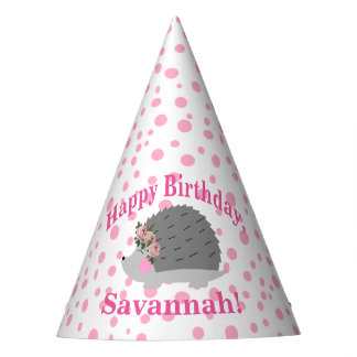 Personalized Hedgehog Birthday Party Hat