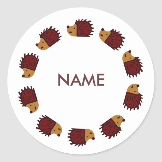Personalized Hedgehog Sticker