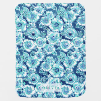 Personalized HIBISCUS BOUNTY Tropical Hawaiian Baby Blanket