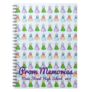 Personalized High School Prom Favor Dress Fashion Spiral Notebook