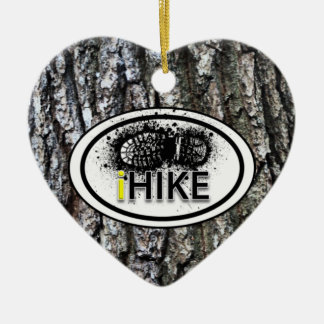"Personalized Hiking ""iHIKE"" Heart Ornament"