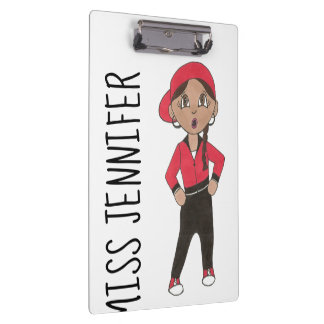 Personalized Hip Hop Jazz Class Dance Teacher Gift Clipboard