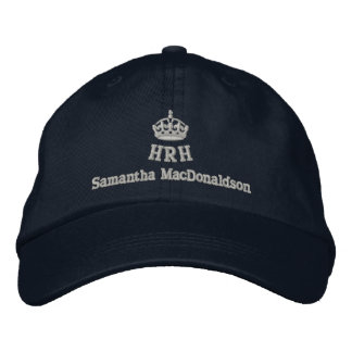 Personalized His Royal Highness Embroidered Baseball Caps