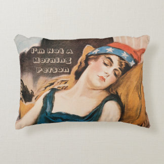 Personalized historic accent pillow