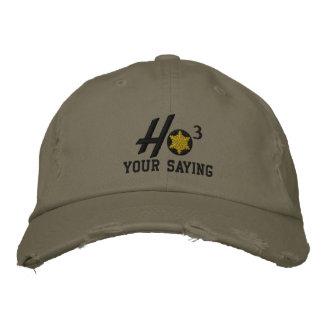 Personalized Ho Ho Ho Snowflake Military Style Baseball Cap