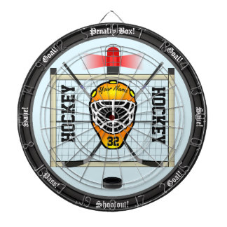 Personalized Hockey Dartboard