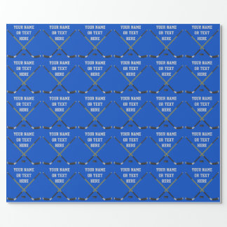 Personalized Hockey Gift Wrapping Paper, Your Text Wrapping Paper