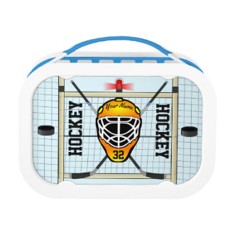 Personalized Hockey Name and Number Lunchboxes