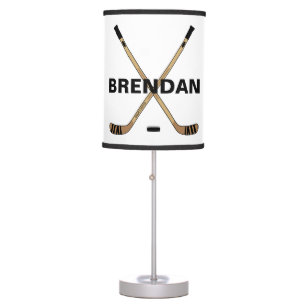 Personalized Hockey Name Custom Table Lamp