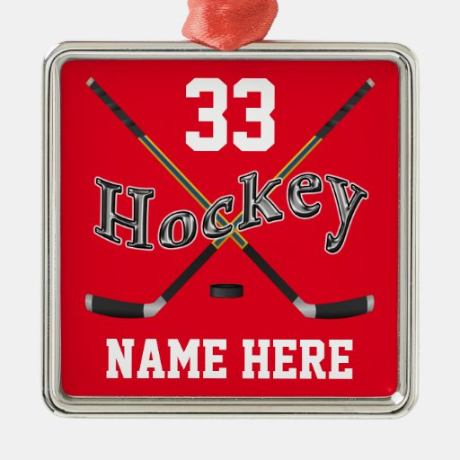 Personalized hockey ornaments your name and number zazzle for Zazzle custom t shirts