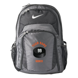 Personalized Hockey Puck-Ice Hockey Backpack