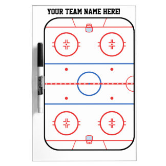 Personalized Hockey Rink Game Planner Dry Erase Board