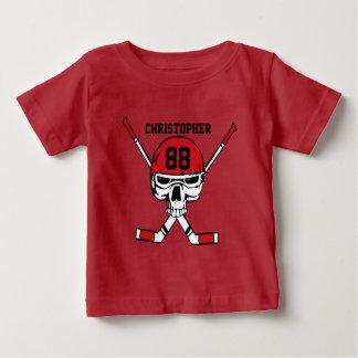 Personalized hockey skull and sticks t shirts