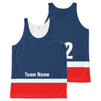 Personalized Hockey Team Colours Tank Top
