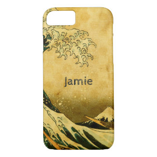 Personalized  Hokusai wave iphone 7 case
