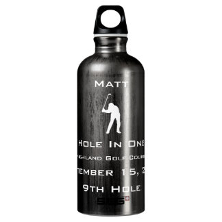 Personalized Hole In One Dated with Location Water Bottle