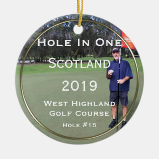Personalized Hole In One Keepsake Ornament